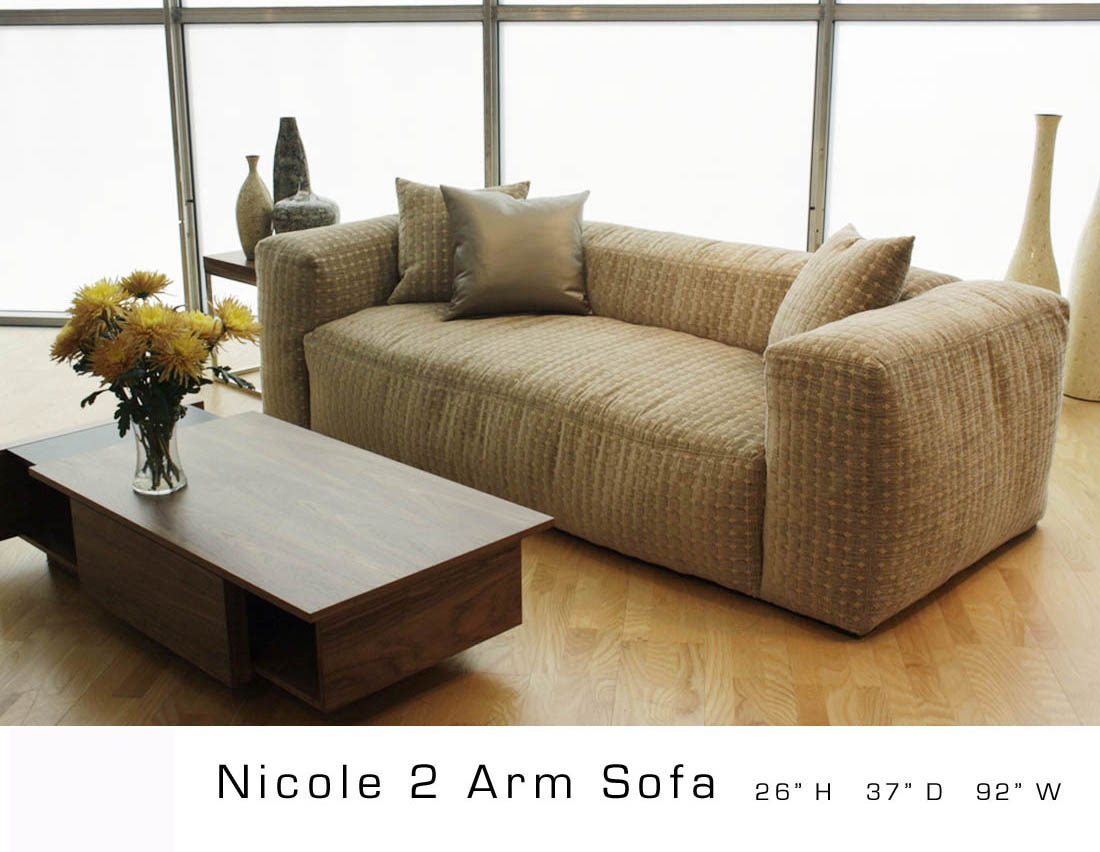Nicole 2 Arm Sofa Design 9 Inc