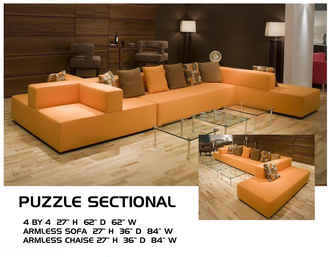 Jigsaw Sectional Jigsaw Modern Sectional Sofa For Small